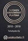 Suomen vahvimmat platina - 2010-2018